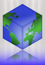 Cube  world, map, world-glob Royalty Free Stock Images