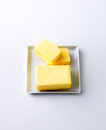 Cubes of butter Royalty Free Stock Photo