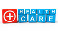 Cubes health care sign white background Stock Image