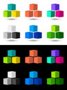 Cubes icon and logo design Royalty Free Stock Photo
