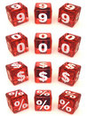 Cubes with numbers Royalty Free Stock Image