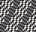 Cubes optical illustion vector seamless pattern black and white can be used as background Royalty Free Stock Images