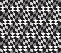Cubes optical illustion vector seamless pattern black and white can be used as background Royalty Free Stock Photography