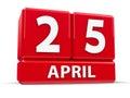 Cubes 25th April