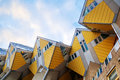 Cubic houses in rotterdam netherlands from architect piet blom Royalty Free Stock Photos