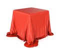 Cubic Object Covered Satin Cloth