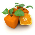 Cubic oranges group Royalty Free Stock Photos