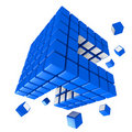 Cubic Structure Royalty Free Stock Photos