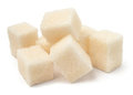 Cubic sugar pile Stock Photos