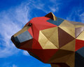 The cubist bear Royalty Free Stock Photos