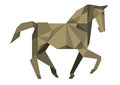 Cubist horse abstract illustration of or origami style white background Royalty Free Stock Photo