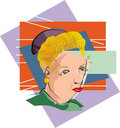 Cubist Woman Royalty Free Stock Photo
