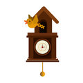 cuckoo watch time isolated icon Royalty Free Stock Photo