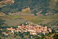 Cucugnan avsmall village in the corbieres in france aude languedoc roussillon region of Stock Images