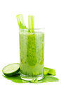 Cucumber celery smoothie Stock Images