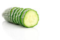 Cucumber cross section isolated on white background Royalty Free Stock Images