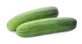 Cucumber isolated on white Royalty Free Stock Photo
