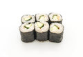 cucumber maki sushi - japanese food style Royalty Free Stock Photo