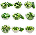 Cucumber salad collage Royalty Free Stock Photography