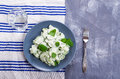 Cucumber salad with mint Royalty Free Stock Photo