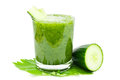 Cucumber smoothie on white Royalty Free Stock Photography