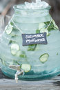Cucumber water jar Royalty Free Stock Photo