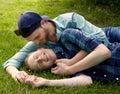 Cuddling Couple Royalty Free Stock Photo