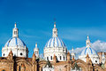 Cuenca Cathedral Domes Royalty Free Stock Photo