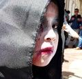 stock image of  Portrait of zombie girl, Ecuador