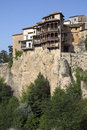Cuenca hanging houses la mancha spain the house in the city of in the region of central Royalty Free Stock Photo