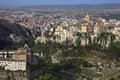 Cuenca la mancha spain overview of the city of in the macha region of central the monastery and the old town area are in the Stock Image