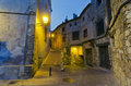 Cuenca night view of the medieval town of spain Royalty Free Stock Photography
