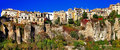 Cuenca town on clifs spain panorama of Royalty Free Stock Image