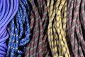 Cuerdas de la escalada Imágenes de archivo libres de regalías
