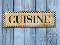 Cuisine sign Stock Photos