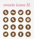 Cukierków icons vector ikony set Obraz Stock