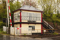 Culgaith Signal Box and Level Crossing Royalty Free Stock Photo
