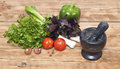 Culinary food background on wooden Royalty Free Stock Image