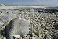 Culla bay white shell sand beach rocky shore of benbecula outer hebrides Stock Photo