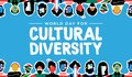 Cultural Diversity card of country flag people