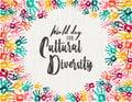 Cultural Diversity Day diverse hand print card