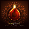 Cultural hindu festival of diwali design Royalty Free Stock Photo