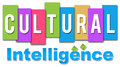 Cultural intelligence colourful text written on and professional style Stock Image