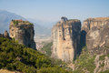 Cultural landscape of meteora natural environment the holy trinity monastery in greece Royalty Free Stock Photo