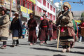 Cultural procesion during Ladakh festival Stock Photo