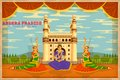 Culture of andhra pradesh illustration depicting the india Royalty Free Stock Photography
