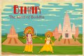 Culture of bihar illustration depicting the india Royalty Free Stock Images