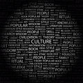 Culture concept illustration graphic tag collection wordcloud collage Stock Photos