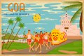 Culture of goa illustration depicting the india Stock Photo