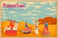 Culture of rajasthan illustration depicting the india Stock Photo